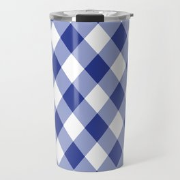 Gingham - Navy Travel Mug