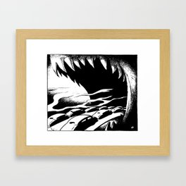 Driving into the Ozone Framed Art Print