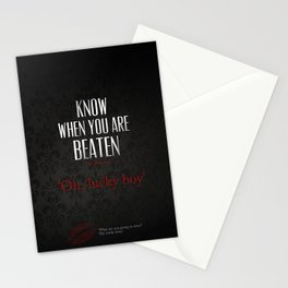 No. 3. Know When You Are Beaten Stationery Cards
