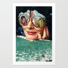 Lifeguard duty Art Print
