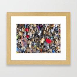 Couples love lock in Paris   Noriko Aizawa Buckles Framed Art Print