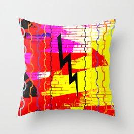 lightning stamp II Throw Pillow