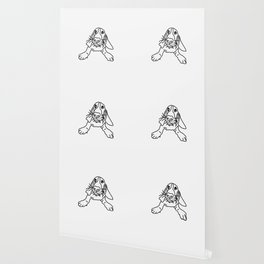 Basset Hound in Black and White Wallpaper