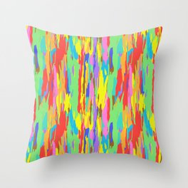 Rainbow Eucalyptus Tree Bark No. 1 Throw Pillow