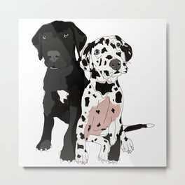 Great Dane Puppy Dogs: Olive & Oden Metal Print