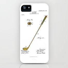 Golf Club Patent - Circa 1903 iPhone Case