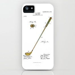 Golf Club Patent - Circa 1903 iPhone Case