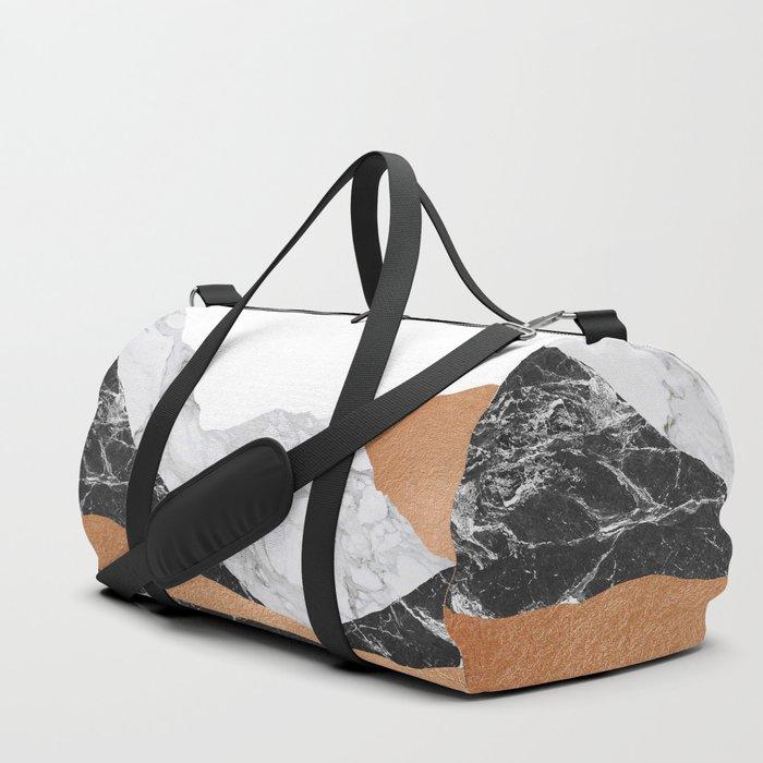 Marble Landscape I, Minimal Art Duffle Bag