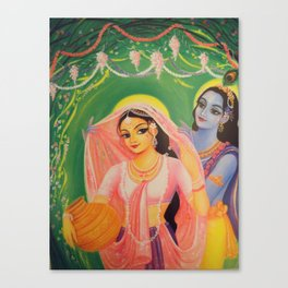 The Divine Couple - Radha and Krishna Canvas Print