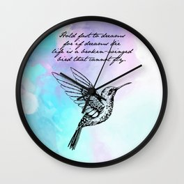 Langston Hughes - Hold Fast to Dreams Wall Clock