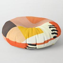 mid century shapes moon Floor Pillow