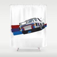 bmw Shower Curtains featuring BMW Art by SABIRO DESIGN