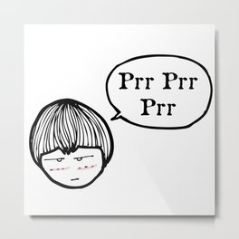 Prrrr Metal Print