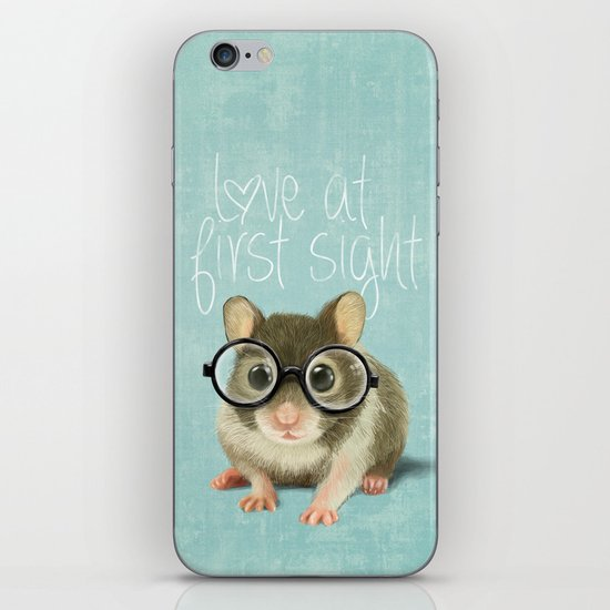 Little mouse in love iPhone Skin
