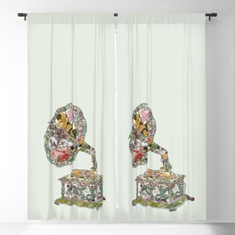 Seeing Sound Vintage Botanical Blackout Curtain