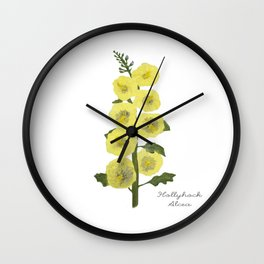 Hollyhock: Alcea Wall Clock