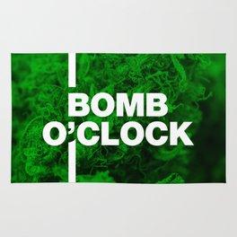 Bomb O'clock - Marijuana bud design Rug