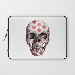 Kisses Skull Laptop Sleeve