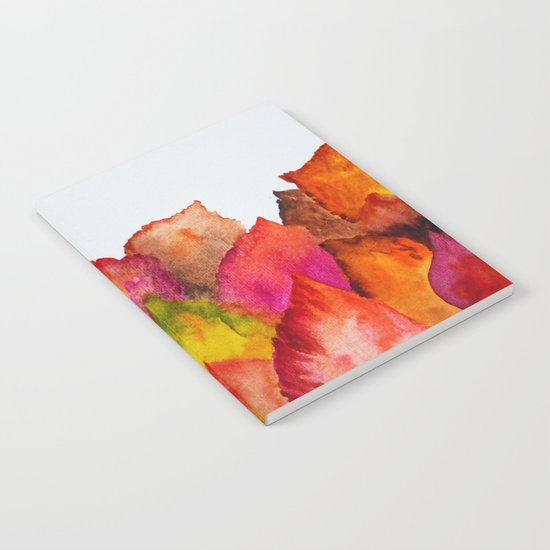 Autumn abstract watercolor 01 Notebook