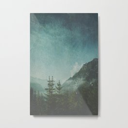 Misty Wilderness - Italian Alps Metal Print