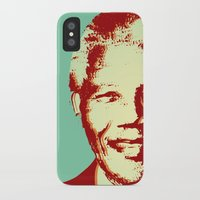mandela iPhone & iPod Cases featuring NELSON MANDELA by mark ashkenazi