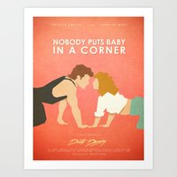 dirty dancing Art Prints featuring Dirty Dancing (80's Minimalism Series) by Trevor Downs