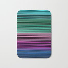 Rainbow thread , abstract pattern 1 Bath Mat