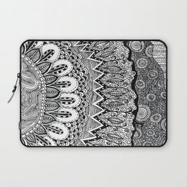 Black and White Doodle Laptop Sleeve