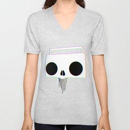 Boombox Skull (RGB) Unisex V-Neck