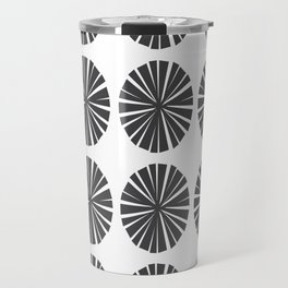 Parasols in Black and White Travel Mug