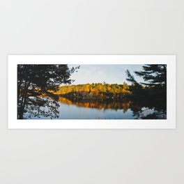 South Pond Sunset - Panoramic Art Print