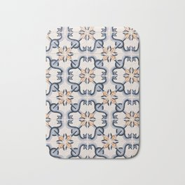 Blue Yellow Portugal Tiles #4 Bath Mat