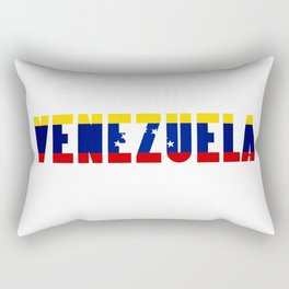 Venezuela Lettering Rectangular Pillow