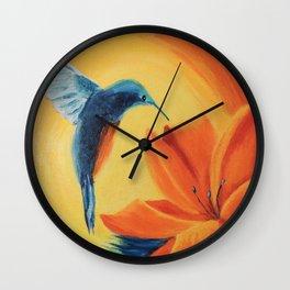 Sun radiation   Rayonnement de soleil Wall Clock
