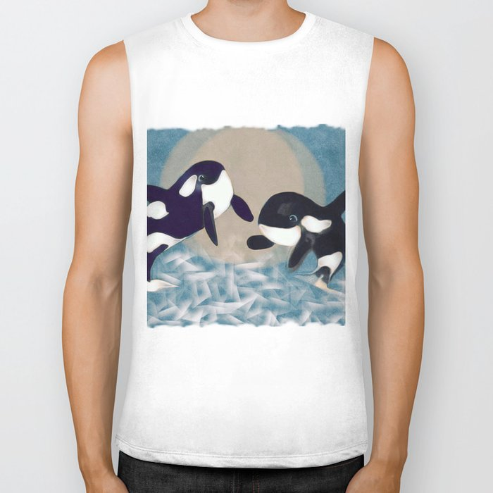 Whale dance Biker Tank