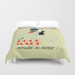 A bookmark would be better retro style Duvet Cover