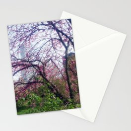 Urban Cherry Blossoms Stationery Cards