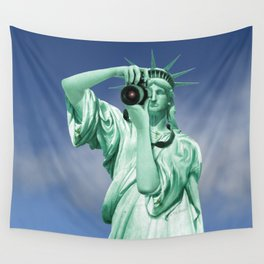 Say cheese for Liberty! Wall Tapestry