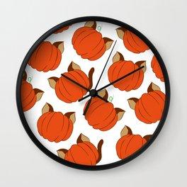 PUMPKITTIES Wall Clock