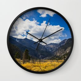 8261 - Autumn, Moraine Park, Rocky Mountain National Park, Colorado Wall Clock