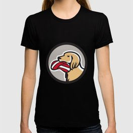English Setter Dog Head Deflated Volleyball Circle Retro T-shirt