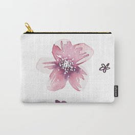 Lilac Pink Watercolour Fiordland Flower Carry-All Pouch