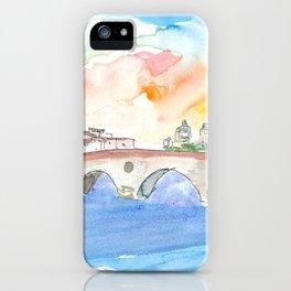 Ponte Pietra Crossing Adige River In Verona iPhone Case