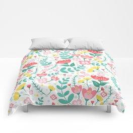 Flower Lovers - White Comforters