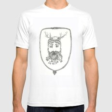 Forest man White MEDIUM Mens Fitted Tee
