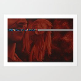 What does your mirror see?, 120-80cm, 2016, oil on canvas Art Print
