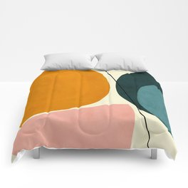 shapes geometric minimal painting abstract Comforters