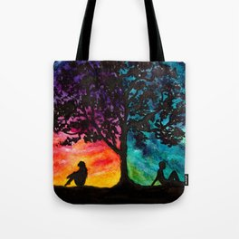 Two Different Worlds Tote Bag