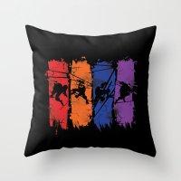 teenage mutant ninja turtles Throw Pillows featuring TEENAGE MUTANT NINJA TURTLES by Beka
