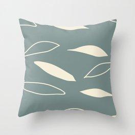 Tea Leaves Green Throw Pillow
